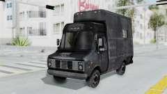 La camioneta de la policía de RE Brote