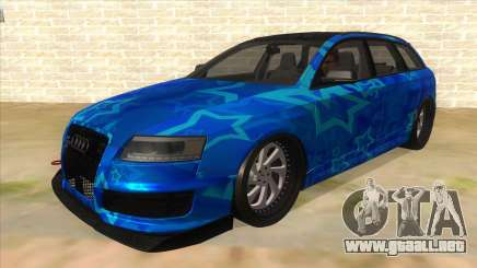 Audi RS6 Blue Star Badgged para GTA San Andreas