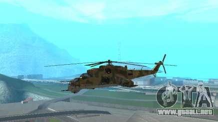 Un Mi-24 En El Cocodrilo para GTA San Andreas