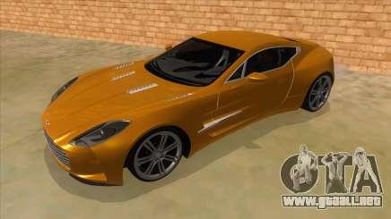 Aston Martine One-77 2010 Autovista para GTA San Andreas