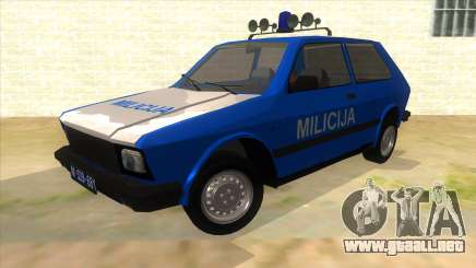 Yugo Koral Police para GTA San Andreas