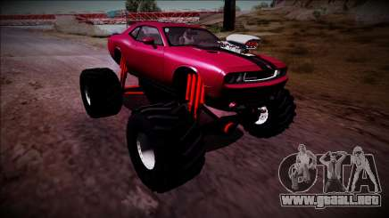 2009 Dodge Challenger SRT8 Monster Truck para GTA San Andreas