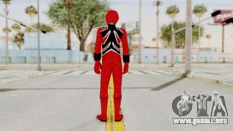 Power Rangers Jungle Fury - Red para GTA San Andreas tercera pantalla