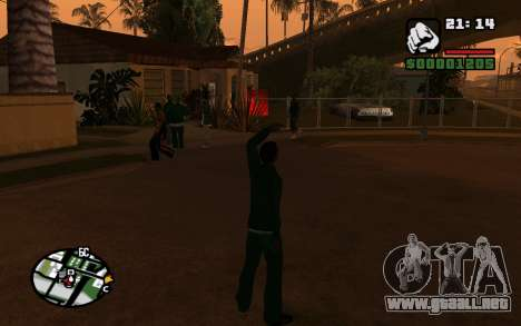 CJ Animation ped para GTA San Andreas tercera pantalla