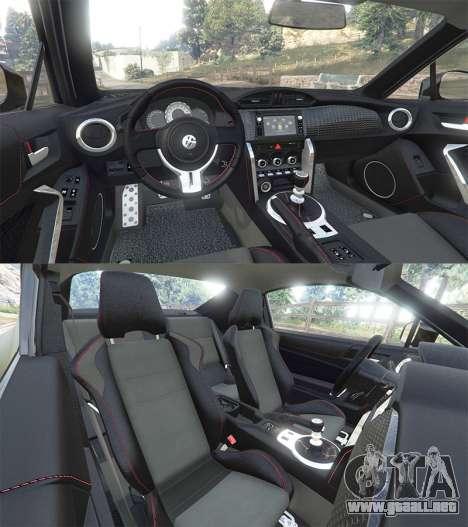 GTA 5 Toyota GT-86 v1.6 vista lateral trasera derecha