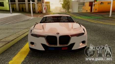 2015 BMW CSL 3.0 Hommage R para GTA San Andreas vista posterior izquierda