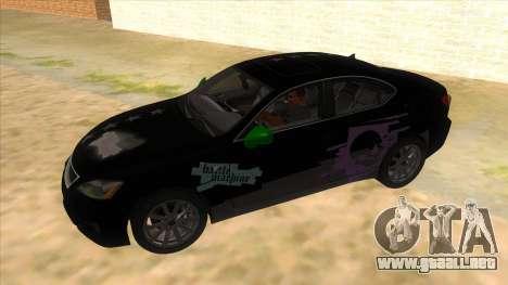 Lexus ISF para la vista superior GTA San Andreas