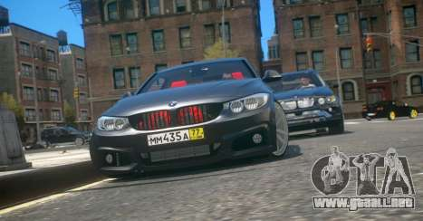 BMW 435i Coupe para GTA 4 left