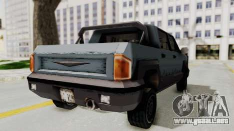 GTA 3 Cartel Cruiser para GTA San Andreas vista posterior izquierda