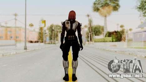 Mass Effect 3 Female Shepard Ajax Armor para GTA San Andreas tercera pantalla