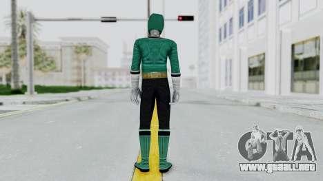 Power Rangers Samurai - Green para GTA San Andreas tercera pantalla