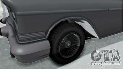 GTA 5 Declasse Tornado No Hifi and Hydro para GTA San Andreas vista hacia atrás