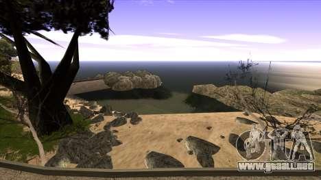 La construcción del puente, y el denso bosque para GTA San Andreas undécima de pantalla