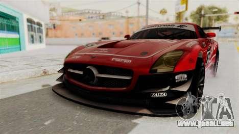 Mercedes-Benz SLS AMG GT3 PJ1 para vista inferior GTA San Andreas
