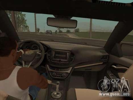 Lada Vesta para la visión correcta GTA San Andreas