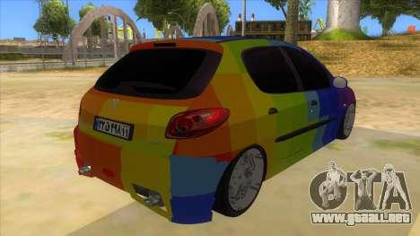 Iranian Peugeot 206 Sport para la visión correcta GTA San Andreas