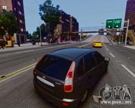 Lada Kalina para GTA 4 vista hacia atrás
