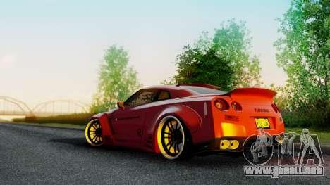 Nissan GTR-R35 Liberty Walk LB performance para GTA San Andreas left
