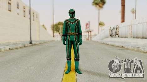 Power Rangers Mystic Force - Green para GTA San Andreas segunda pantalla