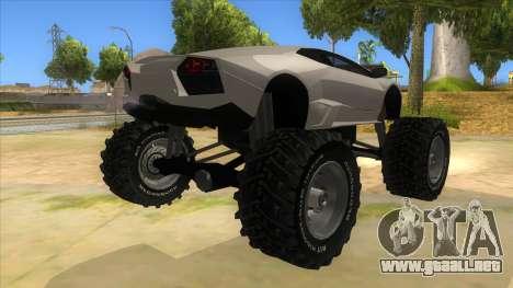 Lamborghini Reventon Monster Truck para la visión correcta GTA San Andreas