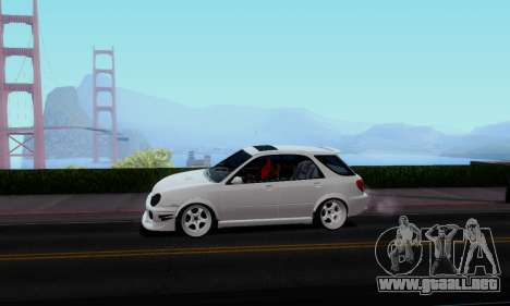 Subaru Impreza WRX STi Wagon Stens para GTA San Andreas vista posterior izquierda