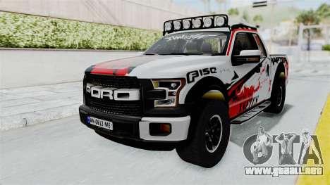 Ford F-150 Raptor 2015 para la visión correcta GTA San Andreas
