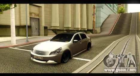 Infiniti G37 para visión interna GTA San Andreas