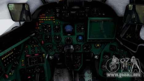 Mi-24V Croatian Air Force H-035 para GTA San Andreas vista hacia atrás