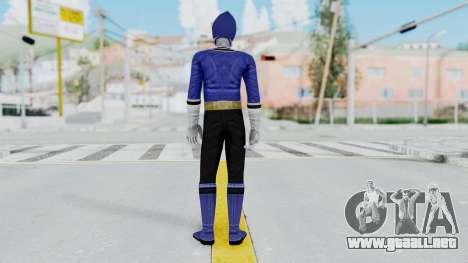 Power Rangers Samurai - Blue para GTA San Andreas tercera pantalla