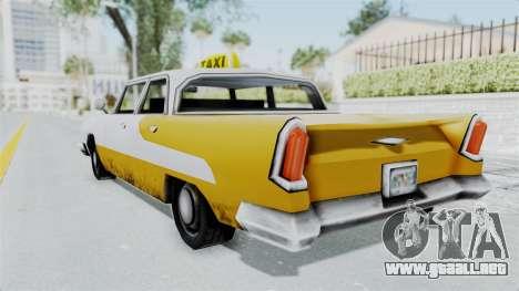 GTA VC Oceanic Taxi para GTA San Andreas left