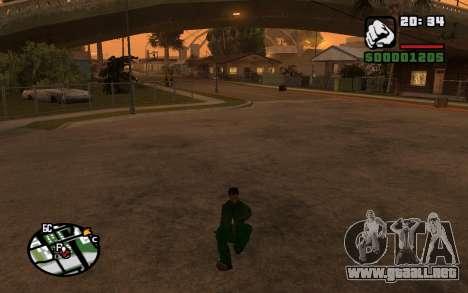 CJ Animation ped para GTA San Andreas quinta pantalla