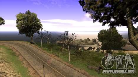 La construcción del puente, y el denso bosque para GTA San Andreas sucesivamente de pantalla