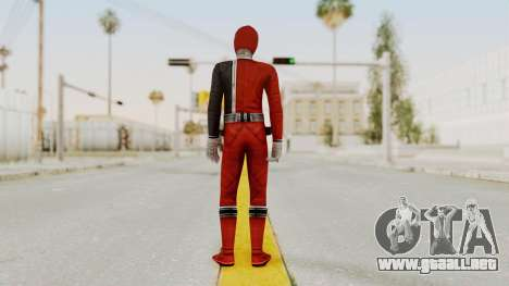 Power Rangers S.P.D - Red para GTA San Andreas tercera pantalla
