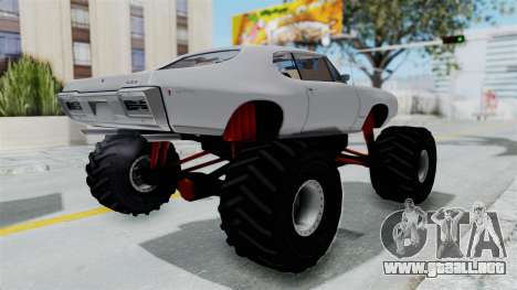 Pontiac GTO 1968 Monster Truck para la visión correcta GTA San Andreas