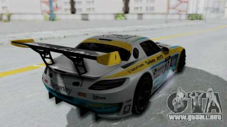 Mercedes-Benz SLS AMG GT3 PJ5 para visión interna GTA San Andreas