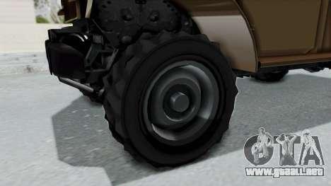 GTA 5 Bravado Duneloader Cleaner para GTA San Andreas vista hacia atrás