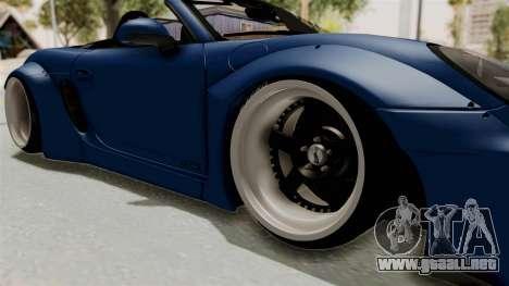 Porsche Boxster Liberty Walk para GTA San Andreas vista hacia atrás