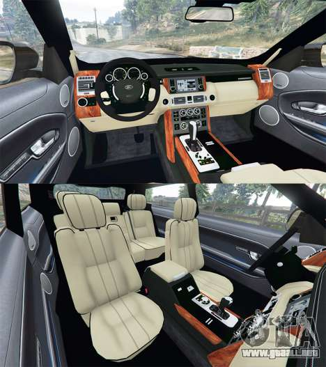GTA 5 Range Rover Evoque v2.0 vista lateral trasera derecha