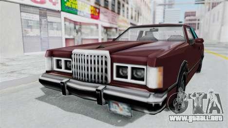 Beta VC Cougar para GTA San Andreas