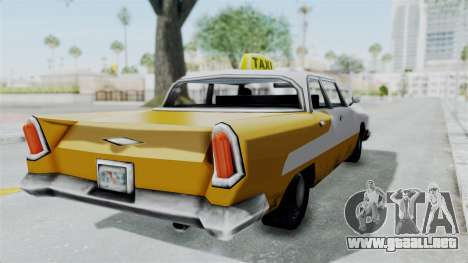 GTA VC Oceanic Taxi para GTA San Andreas vista posterior izquierda