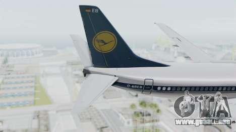 Boeing 737-300 para GTA San Andreas vista posterior izquierda