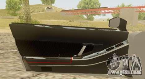 Infernus para GTA San Andreas vista hacia atrás