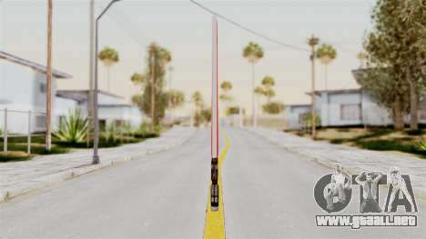 Star Wars LightSaber Red para GTA San Andreas segunda pantalla