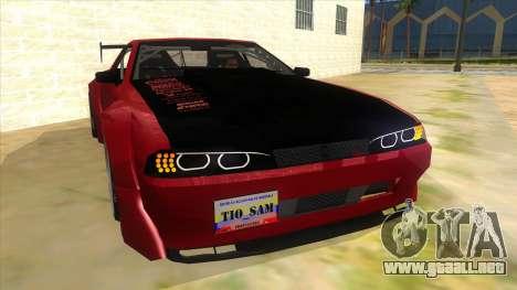 Elegy Tio Sam Style para GTA San Andreas vista hacia atrás