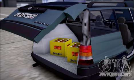 Opel Astra para vista inferior GTA San Andreas