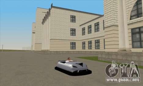 El coche por el circuito para GTA San Andreas