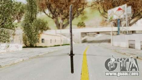 Skyrim Iron Wakizashi para GTA San Andreas segunda pantalla