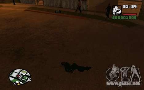 CJ Animation ped para GTA San Andreas sucesivamente de pantalla