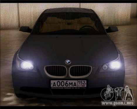 BMW 530xd stock para la visión correcta GTA San Andreas