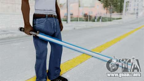 Star Wars LightSaber Blue para GTA San Andreas tercera pantalla